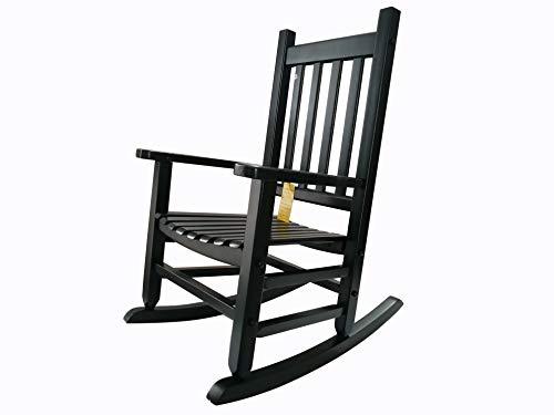 rockingrocker  K086DG Durable Dark Green Child Wooden Rocking Chair/Porch Rocker  Indoor or Outdoor  Suitable for 48 Years Old