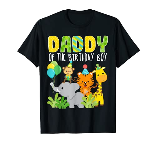 Tema del Zoo de Papá del Cumpleaños Tema de Safari Jungle Camiseta