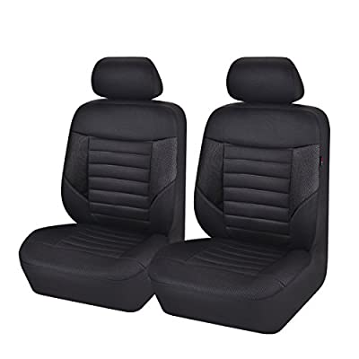 NEW ARRIVAL- CAR PASS 6PCS SUPER Universal Automobile Front Seat Covers Set Package-Fit for Vehicles,Black and Gray With Composite Sponge Inside,Airbag Compatiable