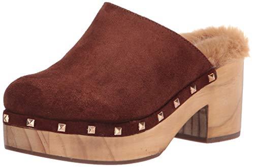 Steve Madden Women's Brooklyn Heeled Sandal, Cognac Suede, 6.5