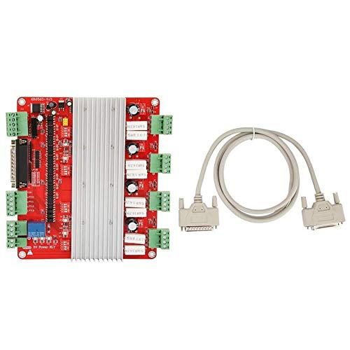 Outingstarcase duradero Controlador de motor, 4 Conductor Eje TB6560 motor de pasos del motor de control numérico CNC tablero de conductor del motor del módulo controlador for la máquina fresadora CNC