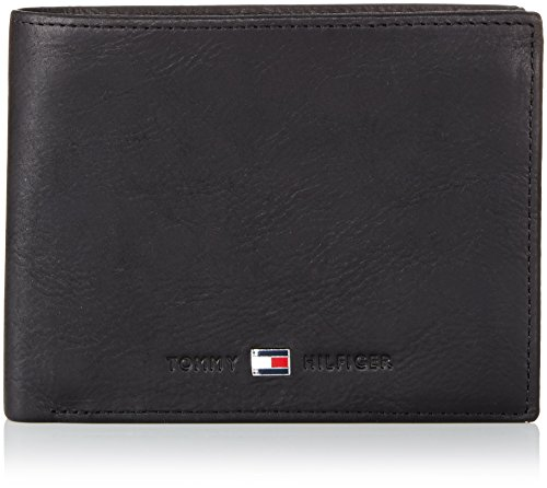 Tommy Hilfiger Johnson CC Flap And Coin Pocket, Portafoglio Uomo, Nero (Schwarz (Black 990), 13x10x2 cm (B x H x T)