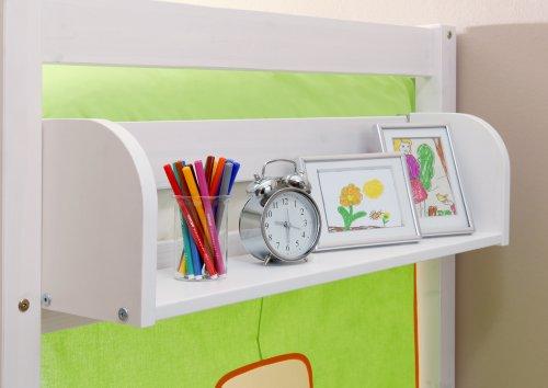 Einhängeregal für Kinderbetten Kiefer weiß verschiedene Größen, Größe:B80 / H22 / T17 cm