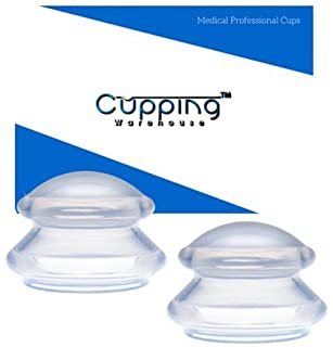 Supreme 2 X- Large -Cellulite Reducing, Weightloss Shaping, Pain Relieving, Lymph Draining, Wrinkle Reducing Professional Medical Silicone Cupping Therapy Set w/ Free Online Tutorials & Video's