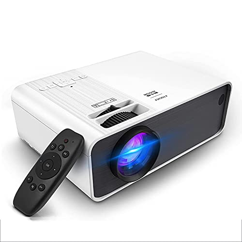 LFJG Proyector para Exteriores, Proyector De Películas HD Compatible con 1080P, Proyector De Cine En Casa De 4000 Lúmenes con Altavoz De Alta Fidelidad, Compatible con HDMI, Fire Stick, USB