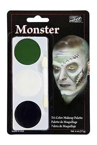 mehron tri couleur palette de maquillage pour Déguisement et figurines Peinture du visage - Monster, One Size