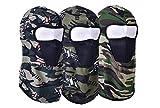 Freesom Lot de 3 Cagoule Adulte Femm Homme Moto Camouflage Militaire Commando Ski Bonnet Polaire Style Tour de Cou Couvre-Chef Chapeau Casquette Casque Mode Sport Cadeau (Bleu)