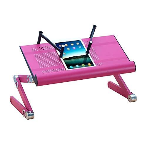 Wangczdz klaptafel voor laptop, in hoogte verstelbaar, aluminiumlegering, mobiel, geschikt voor outdoor, camping, picknick, barbecue, feestjes en catering eettafel