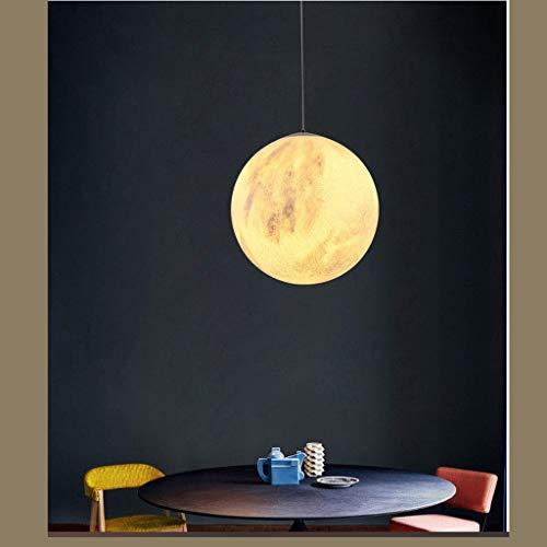 Viqie Nordic - Lámpara de techo para dormitorio o restaurante, creativa, balcón, hotel, lámpara infantil con personalidad de planeta luna (color: Warm Light)