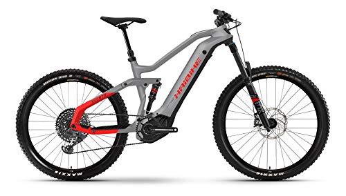 Winora Haibike AllMtn 6 Yamaha Elektro Bike 2021 (M/44cm, Urban Grey/Black/Red Matte)