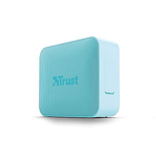 Trust Mobile Altavoz Inalámbrico Portátil con Bluetooth Zowy Compact - Resistente al Agua (IPX7), hasta 12h de Reproducción, Micrófono Incorporado, Turquesa