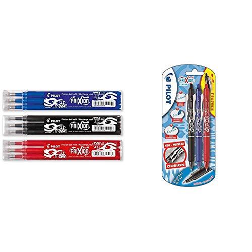Pilot Frixion – Sets de 3 bolígrafos roller de tinta en l