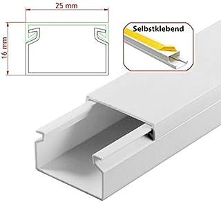 StilBest® 90m Kabelkanal [L x B x H 200x2,5x1,6 cm, PVC, Selbstklebend, weiß] Kabeldurchführungssystem   Kabelleiste   Kabelschlauch   Kabelrohr B07PNC7PX7  Einfach zu bedienen