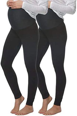 Felina Velvety Soft Maternity Leggings for Women Yoga Pants for Women Maternity Clothes 2 Pack product image