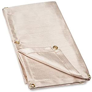 Neiko 10908A Heavy Duty Fiberglass Welding Blanket and Cover with Brass Grommets Size 4 FT. x 6 FT. by fabulous Neiko