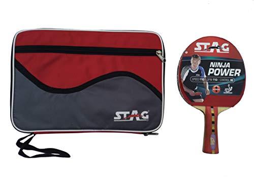 Stag Ninja Power Table Tennis Racquet( Multi- Color, 180 grams, Advanced )