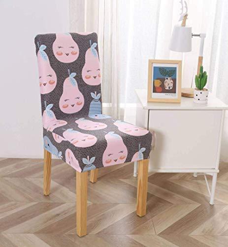 Jonist Fundas para sillas para sillas de Comedor, Fundas universales extraíbles, Lavables, elásticas, con Respaldo Alto, sillas de Comedor, Rosa, Pera, Gris, Funda Protectora, Fundas para sillas pa
