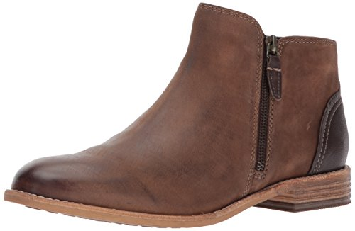 Clarks Women's Maypearl Juno Ankle Bootie, Brown Leather, 8.5 M US