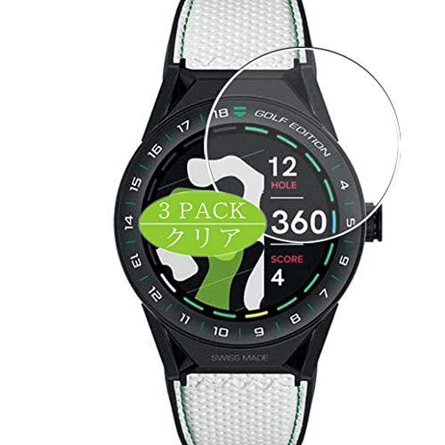 VacFun 3 Piezas Claro Protector de Pantalla, compatible con TAG Heuer Connected Modular GOLF EDITION 45mm, Screen Protector Película Protectora(Not Cristal Templado)
