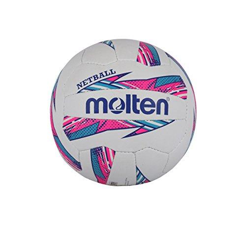 Molten Striker Netball Club und Match-Level, rosa/blau, Größe 5