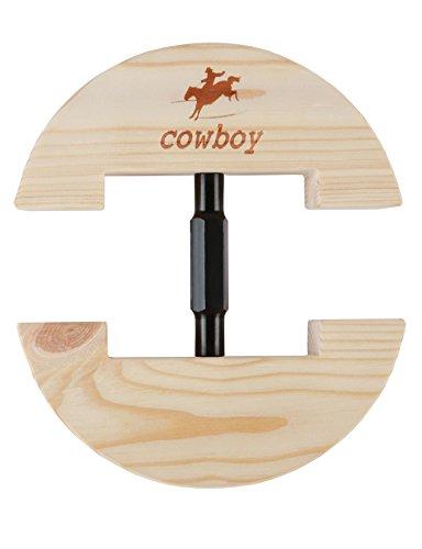 Cowboy - Colorida horma de sombrero ajustable y resistente. Pequeño tamaño 16,5 cm a 24,1 cm - Gran tamaño 19 cm a 26,9 cm
