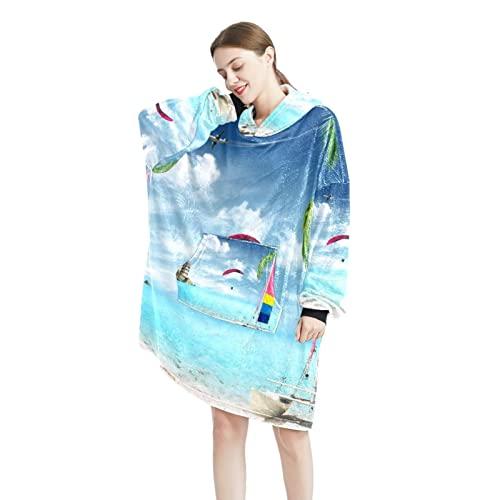 toile - Sudadera con capucha para hombre y mujer, manga larga, con bolsillos, talla única, Color-13, Talla única