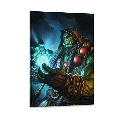 DRAGON VINES Hearthstone,The Earthen Ring Shaman Orc Horde Warchief Thrall Frostwolf Clan Canvas Print Wall Art Colorful Abstract Painting 12x18inch(30x45cm)