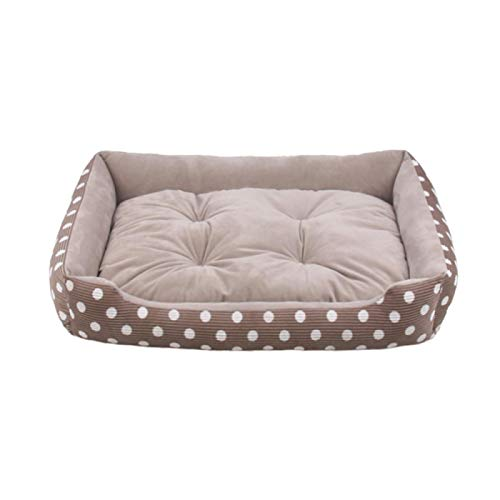 Hundebett Pet Dog Cat Bett   Plüschbett Mit Abnehmbarem Pad Puppy Kitten Bed Kissenmatte Für Alle Jahreszeiten Cute Travel Portable Pet Supplies 70Cm Lightcoffe