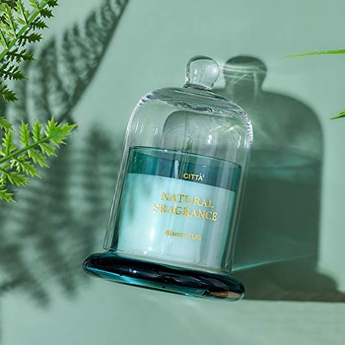WSY LJJNordic Glass Golden Bell Candle, Deodorizing and Purifying the Air, Smokeless Scented Candle, Birthday, Bathing, Yoga, Christmas, Mother's Day Anniversary(Color:b)
