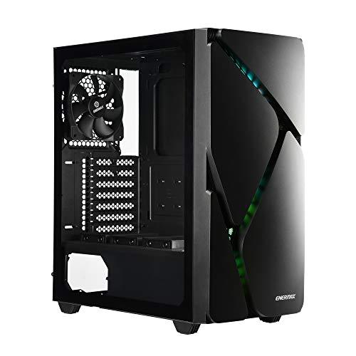 ENERMAX Marble Shell MS30 マーブルシェル ARGB 搭載 マザーボード同期 ATX ミドルタワー PCケース アドレッサブル RGB LED ファン ARGB ハブ 強化ガラス ブラック 黒【 ECA-MS30-BB-ARGB 】 (Black) (ATX Mid-Tower, MS30 ブラック)
