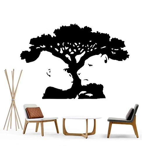 yuandp tijger Monkey Tree illusie kleuterschool speelkamer meisjes jongens slaapkamer muursticker kunststicker transfermuurschildering sjabloon decoraties sti 56 * 84 cm