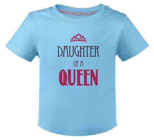 Green Turtle Fête des mères - Fille d'une Reine T-Shirt Bébé Unisex 12M Bleu Ciel