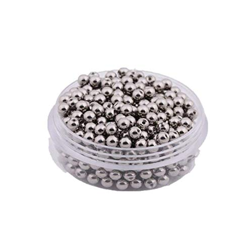 LZZR 5pcs 14G 16G Stainless Steel Big Balls Replacement Nose Barbell Earring Tongue Eyebrow Ring Body Jewelry Accessories (Color : Silver 5PCS, Size : 1.6 6mm)