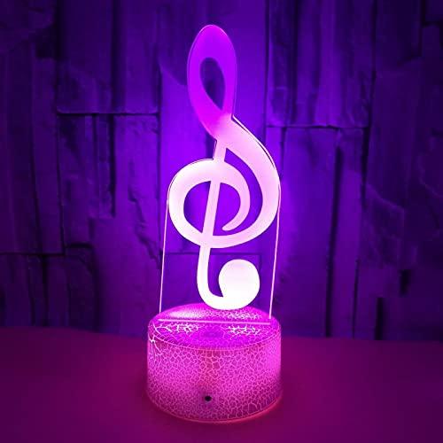 Yyhmkb Estanterias De Plastico Total Enchufe Europeo Telefonos Vasos Plastico Niños Palos Nota Musical 3D Pequeña Luz Nocturna Colorida Táctil Control Remoto Atmósfera Regalo