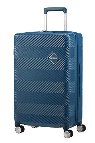 American Tourister Flylife Equipaje de Mano 67 Centimeters 82.5 Azul (Petrol Blue)