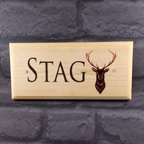 Personalised Stag Sign, Stags Head Plaque, Stag Pub Name Sign