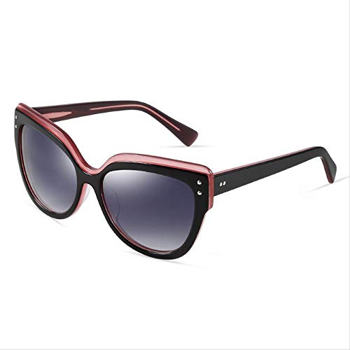 ZCFDDP Sonnenbrillen Marke Polarized Grace Elegance Damen Sonnenbrillen Classic Retro Kunststoff TitanrahmenSchwarz Pink