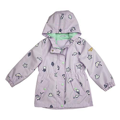Osh Kosh Baby Girls' Hooded Lightweight Rainslicker Raincoat Jacket, Lilac Color Change, 12MO