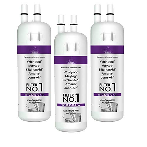 Refrigerator Water Filter 9081 Replacement Compatible with Kenmore 9081 469081 469930 9930 water filter 1, white(3 PCS)