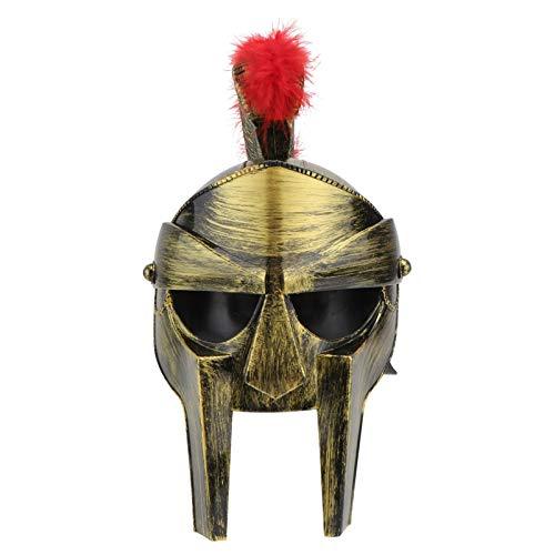 PRETYZOOM Casco de Centurin Romano Guerrero Troyano Romano Soldado Espartano Disfraz Casco Guerrero Porttil Cascos Espartanos Disfraz Medieval