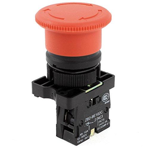ZB2-BE102C Parada de Emergencia Enganche Color Rojo botón Interruptor NC 240 V 3 A