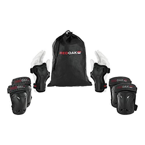 REDOAK Protektoren - Hochwertige Schutzausrüstung samt Knieschoner, Ellbogenschoner & Handgelenkschoner - Schoner Set geeignet für Kinder und Erwachsene - Inliner Schützer,XS