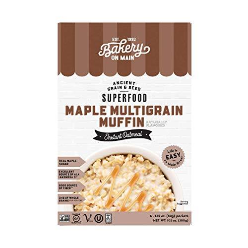 Bakery On Main, Gluten-Free Instant Oatmeal, Vegan & Non GMO - Maple Multigrain Muffin, 10.5oz (Pack of 1)