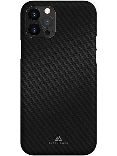 Black Rock - Hülle Ultra Thin Iced Hülle passend für Apple iPhone 12/12 Pro | Karbon Handyhülle, Dünn, Fiber Cover (Flex Carbon Schwarz)