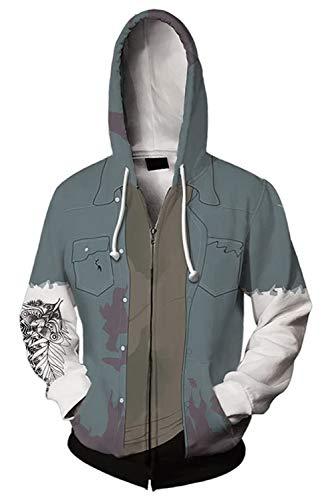Bilicos Coat Mantel Hoodie mit Kapuze Jacke Hooded Pulli Sweatshirt Anime Unisex Lange Ärmel Kapuzenpullover Last of Us: Part II Ellie L (Brustumfang 110cm)