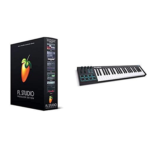 Image Line FL Studio 20Producer Edition & Alesis V49 - Tragbarer 49-Tasten USB-MIDI Keyboard Controller mit 8 hintergrundbeleuchteten Pads, 4 zuweisbaren Encodern und professionellen Softwarepaket