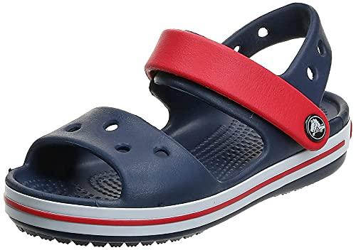Crocs Crocband Sandal Kids, Sandali con Cinturino alla Caviglia Unisex – Bambini, Blu (Navy/Red), 27/28 EU