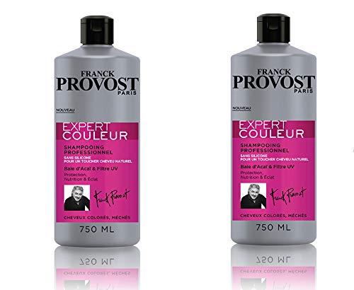 FRANK PROVOST Expert Couleur Professionelles Haar-Shampoo, 750m, 2ER-PACK, Schutz & Glanz