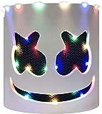 OIUC Máscara LED DJ Festival de música Ilumina Casco Máscara de Cabeza Completa Disfraces de Halloween Cosplay Party Props (Luz hasta sin parpadeo) - D