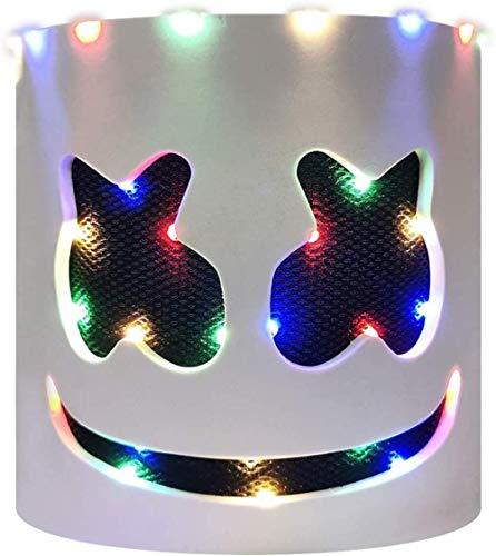 OIUC Mscara LED DJ Festival de msica Ilumina Casco Mscara de Cabeza Completa Disfraces de Halloween Cosplay Party Props (Luz hasta sin parpadeo) - D